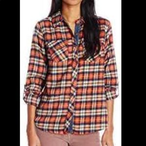 Miss Me | Plaid Red & Blue Button Up Down Top